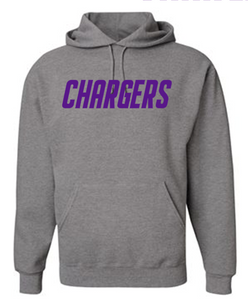 OLSH CHARGERS YOUTH & ADULT HOODED SWEATSHIRT - PURPLE PRINT