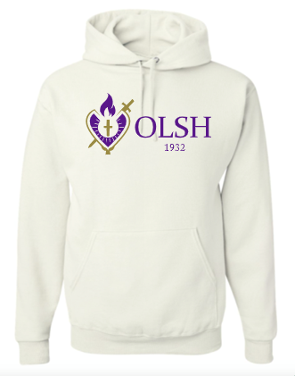 OLSH HEART LOGO YOUTH & ADULT HOODED SWEATSHIRT