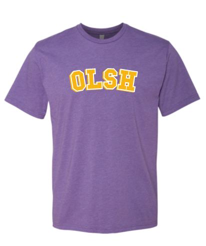 OLSH YOUTH & ADULT SHORT SLEEVE T-SHIRT - PURPLE RUSH