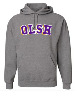 OLSH YOUTH & ADULT HOODED SWEATSHIRT - OXFORD GRAY