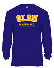 Load image into Gallery viewer, OLSH BASEBALL YOUTH & ADULT PERFORMANCE SOFTLOCK LONG SLEEVE TEE - PURPLE OR GRAPHITE