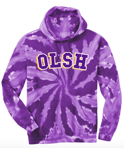 OLSH PURPLE TIE DYE YOUTH & ADULT HOODED SWEATSHIRT