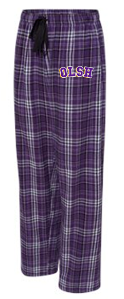 OLSH YOUTH & ADULT PLAID FLANNEL PANTS WITH POCKETS