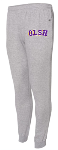 OLSH BADGER BRAND YOUTH AND ADULT FLEECE JOGGERS