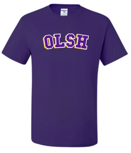OLSH BASIC 3 COLOR YOUTH & ADULT SHORT SLEEVE T-SHIRT - DEEP PURPLE