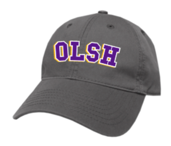 OLSH LEGACY BRAND ADULT SIZE RELAXED TWILL HAT - GREY