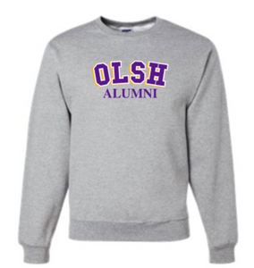 OLSH ALUMNI TRI-COLOR YOUTH AND ADULT CREW NECK SWEATSHIRT