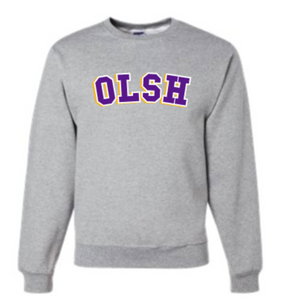OLSH TRI-COLOR YOUTH AND ADULT CREW NECK SWEATSHIRT