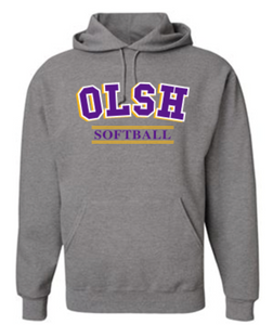 OLSH SOFTBALL YOUTH & ADULT HOODED SWEATSHIRT