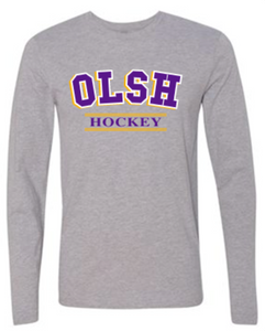 OLSH HOCKEY TRI-COLOR DESIGN YOUTH & ADULT LONG SLEEVE TEE