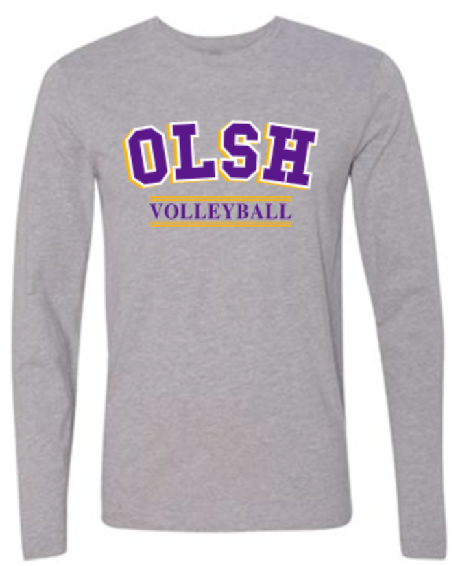 OLSH VOLLEYBALL TRI-COLOR DESIGN YOUTH & ADULT LONG SLEEVE TEE