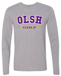OLSH GOLF TRI-COLOR DESIGN YOUTH & ADULT LONG SLEEVE TEE