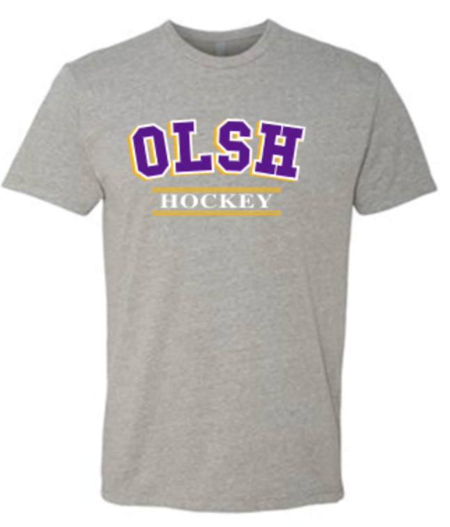 OLSH HOCKEY TRI-COLOR TODDLER, YOUTH & ADULT SHORT SLEEVE T-SHIRT