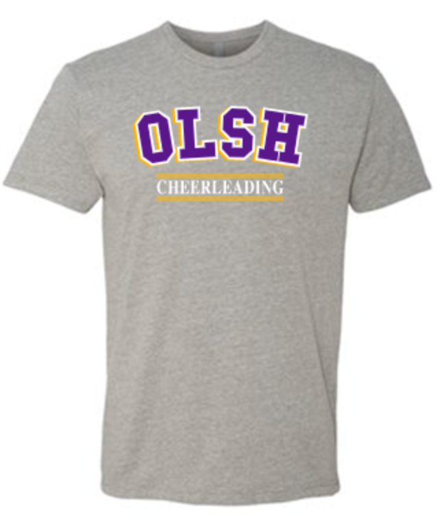 OLSH CHEERLEADING TRI-COLOR TODDLER, YOUTH & ADULT SHORT SLEEVE T-SHIRT