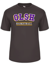 Load image into Gallery viewer, OLSH BASKETBALL YOUTH & ADULT PERFORMANCE SOFTLOCK SHORT SLEEVE TEE - PURPLE OR GRAPHITE