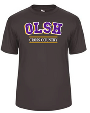 Load image into Gallery viewer, OLSH CROSS COUNTRY YOUTH & ADULT PERFORMANCE SOFTLOCK SHORT SLEEVE TEE - PURPLE OR GRAPHITE