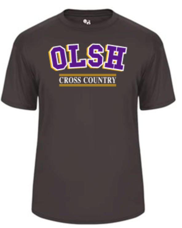OLSH CROSS COUNTRY YOUTH & ADULT PERFORMANCE SOFTLOCK SHORT SLEEVE TEE - PURPLE OR GRAPHITE