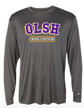 Load image into Gallery viewer, OLSH CROSS COUNTRY YOUTH & ADULT PERFORMANCE SOFTLOCK LONG SLEEVE TEE - PURPLE OR GRAPHITE