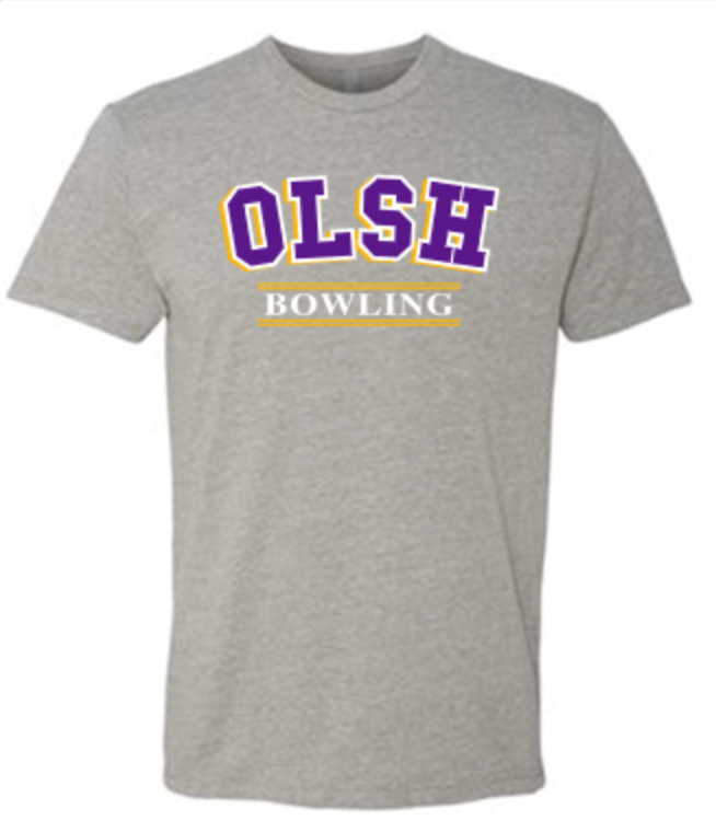 OLSH BOWLING TRI-COLOR TODDLER, YOUTH & ADULT SHORT SLEEVE T-SHIRT
