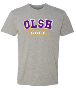 OLSH GOLF TRI-COLOR TODDLER, YOUTH & ADULT SHORT SLEEVE T-SHIRT