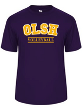 Load image into Gallery viewer, OLSH VOLLEYBALL YOUTH & ADULT PERFORMANCE SOFTLOCK SHORT SLEEVE TEE - PURPLE OR GRAPHITE