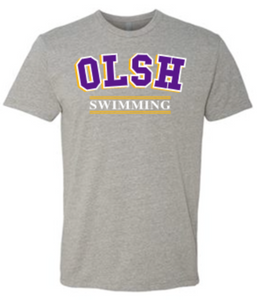 OLSH SWIMMING TRI-COLOR TODDLER, YOUTH & ADULT SHORT SLEEVE T-SHIRT