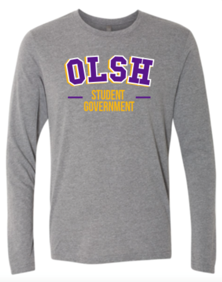 OLSH STUDENT GOVERNMENT TRI-COLOR DESIGN YOUTH & ADULT LONG SLEEVE TEE