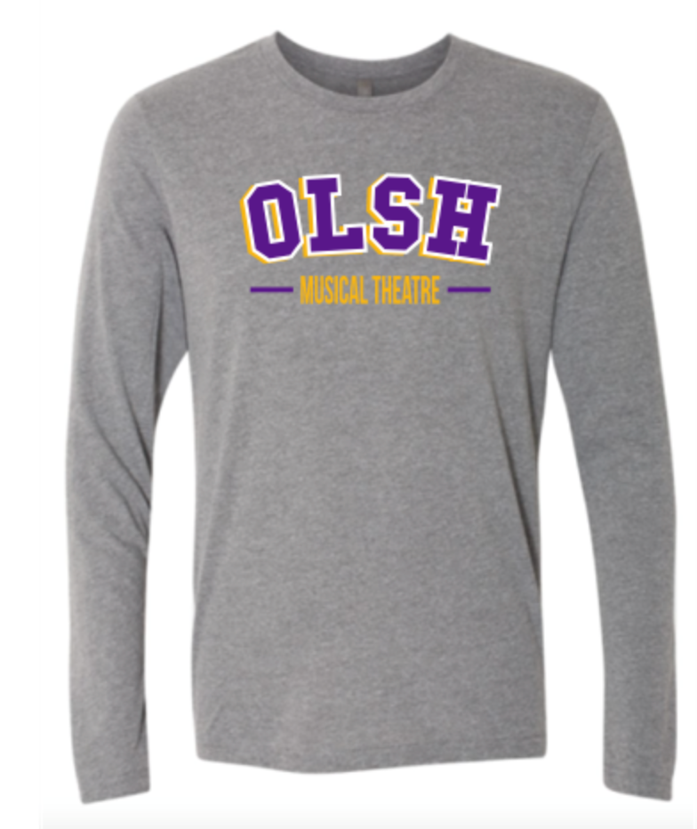 OLSH MUSICAL THEATRE TRI-COLOR DESIGN YOUTH & ADULT LONG SLEEVE TEE