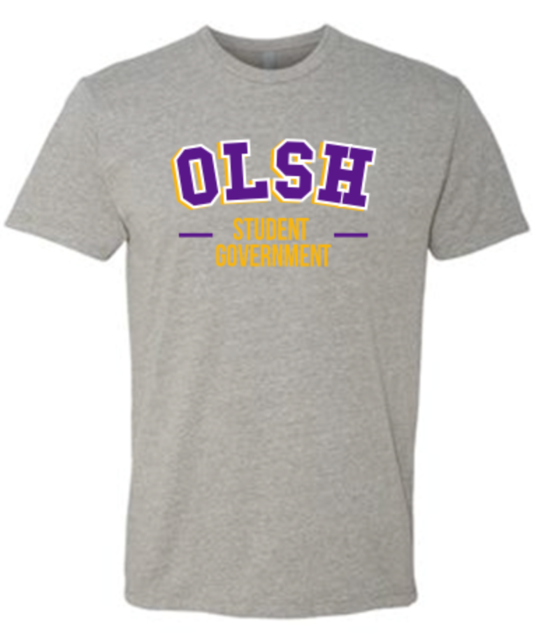 OLSH STUDENT GOVERNMENT TRI-COLOR YOUTH & ADULT SHORT SLEEVE T-SHIRT