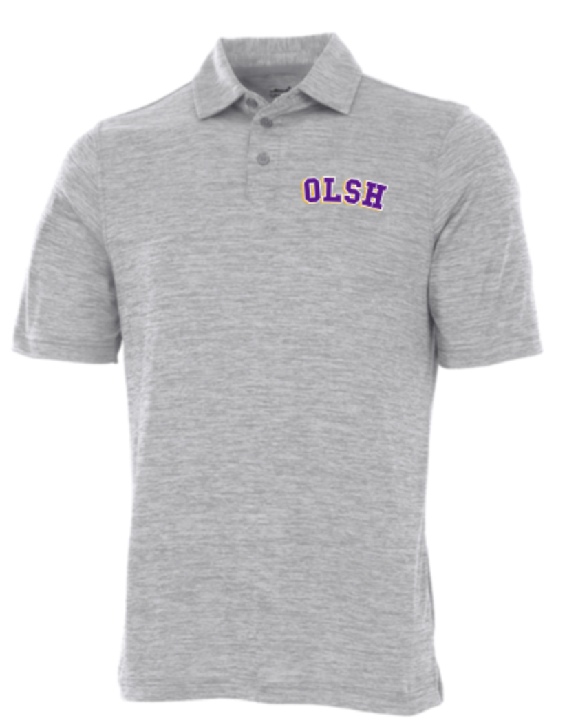 OLSH MENS SPACE DYE PERFORMANCE POLO
