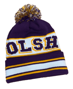 OLSH KNIT TRI-COLORED TOSSLE CAP