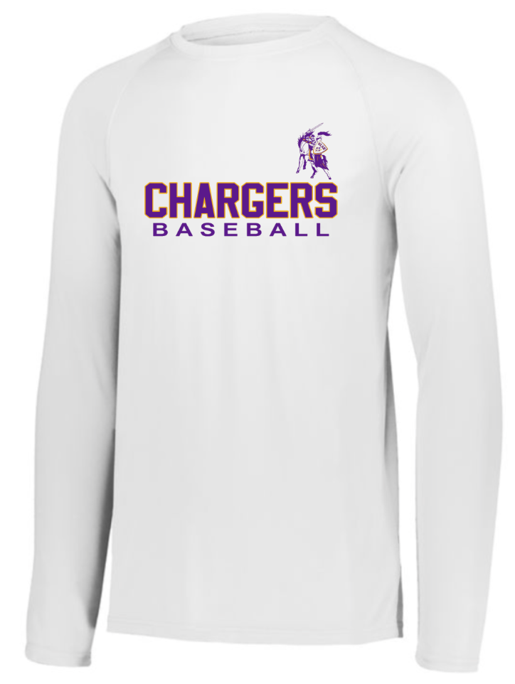 OLSH BASEBALL *FUNDRAISER* ADULT PERFORMANCE LONG SLEEVE TEE - WHITE