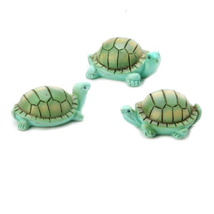 Yard and Garden Minis - Turtles - Resin - 1.5 x 1 inches - 3 pieces