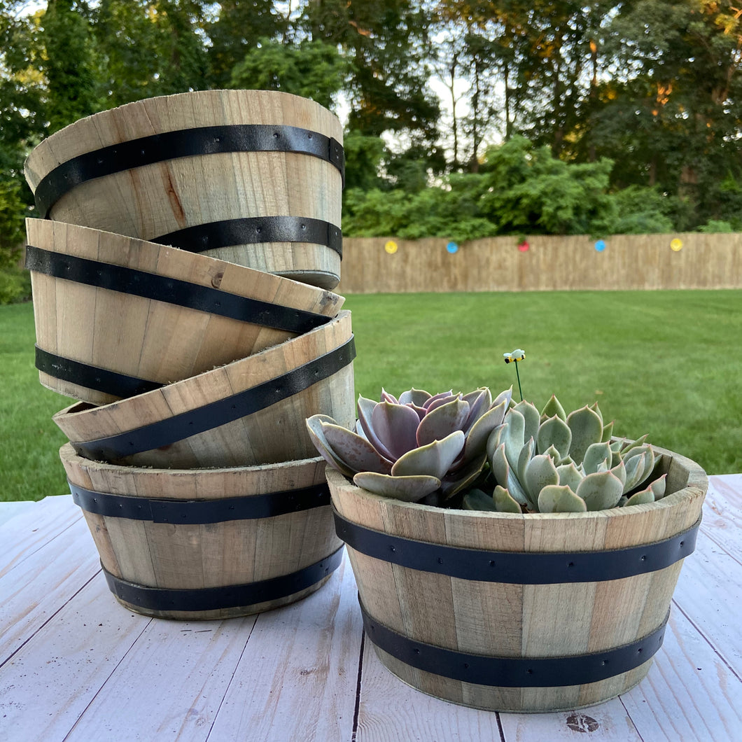 Rustic Whiskey Barrel/ Wine Barrel Container