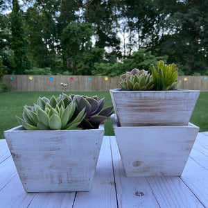 White Rustic Container