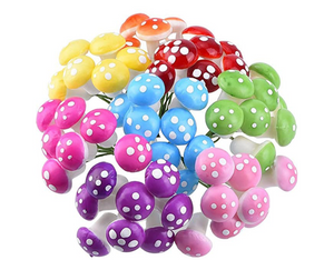 Fairy Garden Mushrooms Mix Colors- Pack of 15