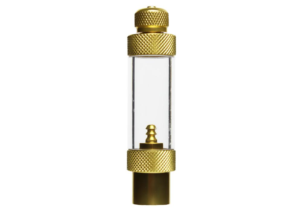 CO2 Art Regulator - Bubble Counters with built-in Check Valve - Gold