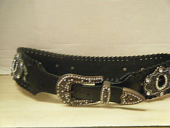 Belt, Western Rhinestone Animal Print w/ Horseshoes