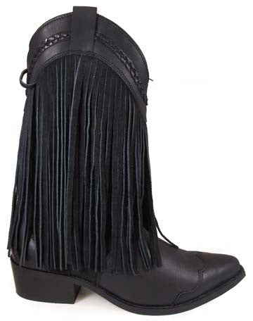 Cowgirl Boots SMOKY MOUNTAIN Rosie Black Fringe Boots, item #6560