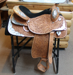 "Tex Tan Show Saddle - Used 16"" seat, Acorn Tooling"