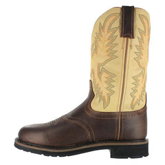 Cowboy Boots JUSTIN Brown Workboot, item #WK4660