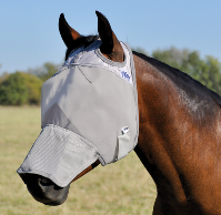 Fly Mask Cashel Crusader  with Long Nose, style #CFMWBL