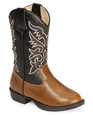 Cowboy Boots SMOKY MOUNTAIN Youth Brown & Black Mountain Austin Lights, Item #1162