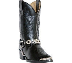 Cowboy Boots LAREDO Youth Black Concho Boot, item #LC2200