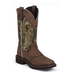 Cowgirl Boots JUSTIN Ladies Real Tree Camo Boot, Item# L9609