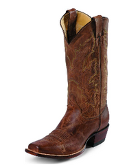 Cowboy Boots JUSTIN Men's Tan Distressed Vintage Goat Boot, Style #2680