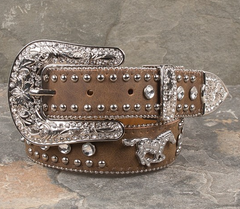 Belt, Western Nocona, Girls Brown Running Horse w/ Bling #N4427644