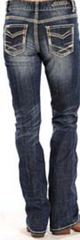 Jeans Ladies Rock & Roll Cowgirl Denim Jeans #W2-9512