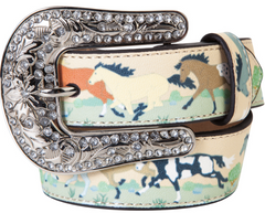 Belt, Western Nocona, Girls Painted Horses and Bling #N4411497