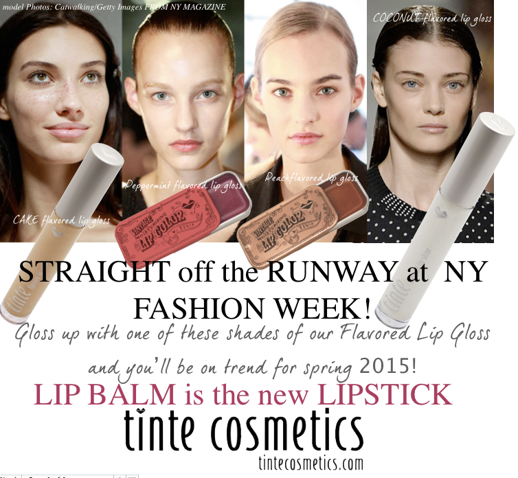 Lip balm is the new lipstick tinte cosmetics agrees